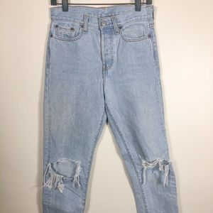 Levi's 501 wedgie jeans